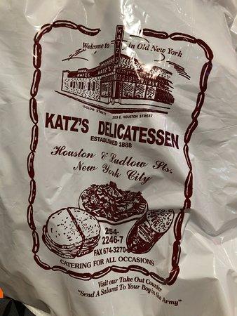 Famous Katz's Bag