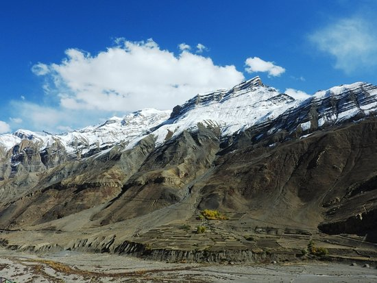 Dhankhar, Hindistan: View of Pin Valley from Kungri Monastery
