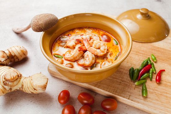 TukTuk Thai Bistro: Creamy Tom Yum soup w/ prawns & mushrooms
