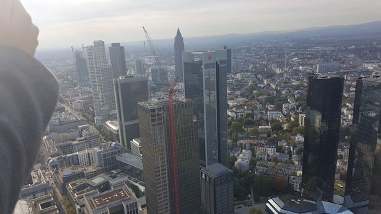 Main Tower: The stunning view of the skyscrapers of Frankfurt.