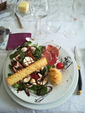 Cussac, France: Une belle et bonne assiette