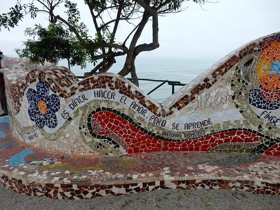 El Parque del Amor: Detalhe do mosaico