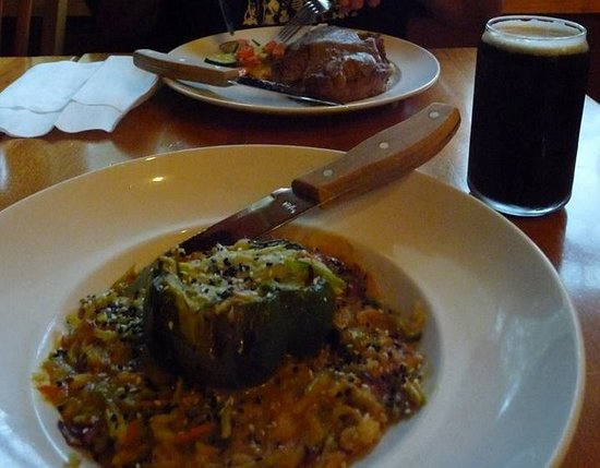 Ossipee, NH: Stuffed pepper - Meatloaf across the table