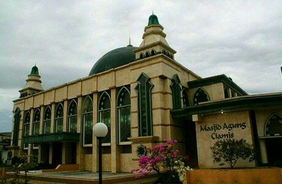 The Masjid Agung Ciamis built in 1882 century when Galuh Regency period