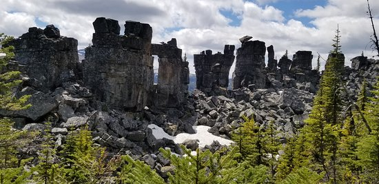 Tumbler Ridge, Canada: some of the unique rock formations