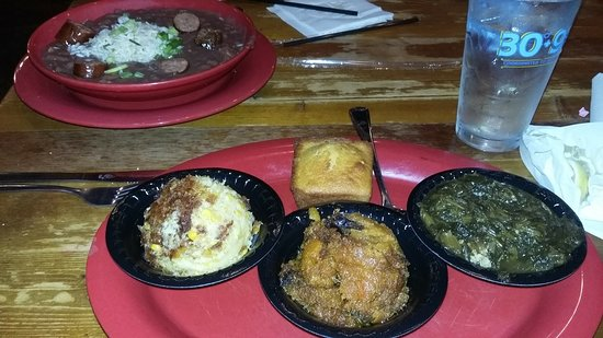 Saint Rose, LA: It's hard to mes up vegtables but they were even too salty except cornbread