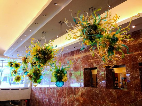 Dale Chihuly sculpture in the Gonda building  - Picture of