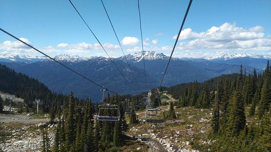 Whistler Blackcomb: View from the lift.