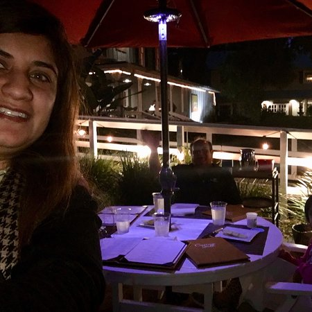 Delicious outdoor dining