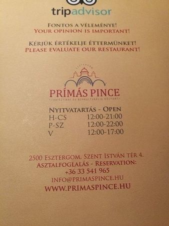 Prímás Pince – fénykép
