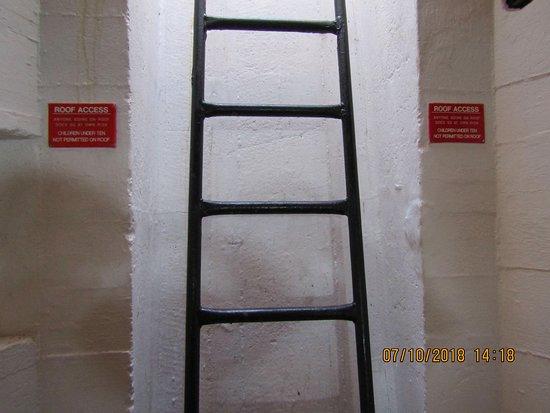 Torteval, UK: Ladder to Roof