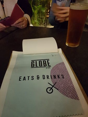 The Globe : Good meal and beverages menu