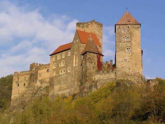 Hardegg, Rakousko: Vyhlídka za hradem...