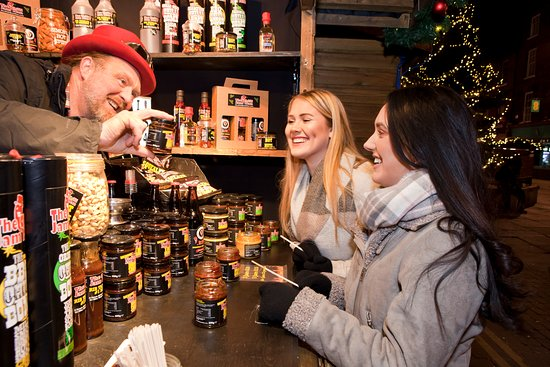 Pick up Christmas food from the York Christmas Market