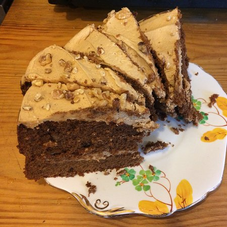 Lots of delicious homemade cakes to tempt you