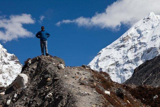 On the way to Island Peak Imja Valley, Everest Trek