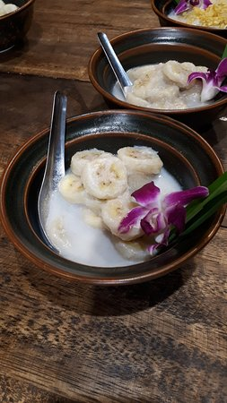 Hands-on Thai Cooking Class & Market Tour in Sukhumvit, Bangkok: Banana in Coconut Milk