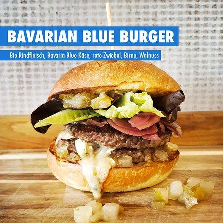 Marktredwitz, Niemcy: BAVARIAN BLUE Burger