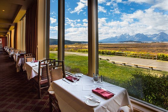 View the Willow Flats and Teton Range from all of our tables.