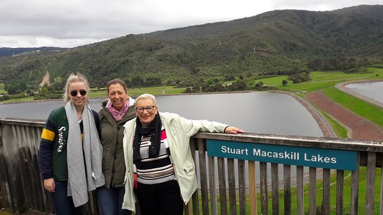 Mary, Marion and Irene at twin lake reservoirs Upper Hutt
