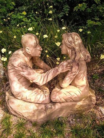 Julio de Castilhos, RS: Escultura em pedra de arenito no Jardim das Esculturas