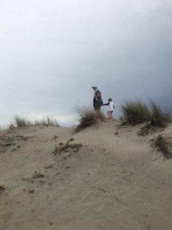 Porto Pino: Climbing the Dunes.