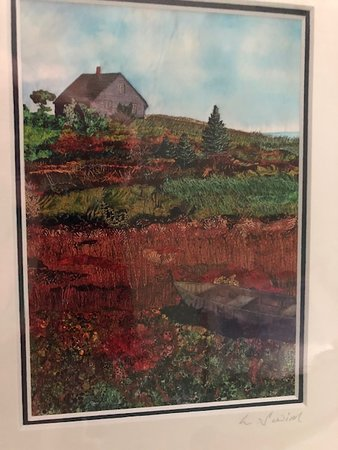 Lunenburg, Canada: Laurie Swim print of a house and vegetation