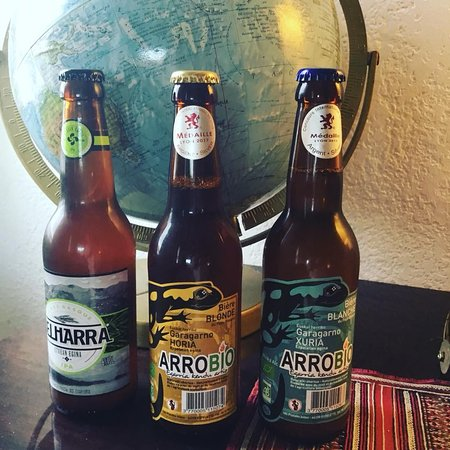 Bières locales Belharra et bio Arrobio