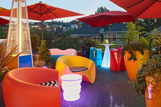 Inn at Northrup Station: Rooftop Patio for Guests to Enjoy!