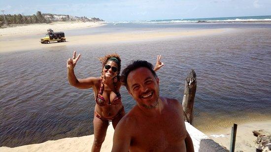 Barra do Cunhau: maceió = encontro do rio com o mar