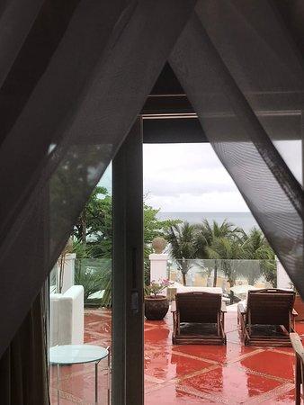 DPNY Beach Hotel & Spa: Vista da cama - Suíte Imperial