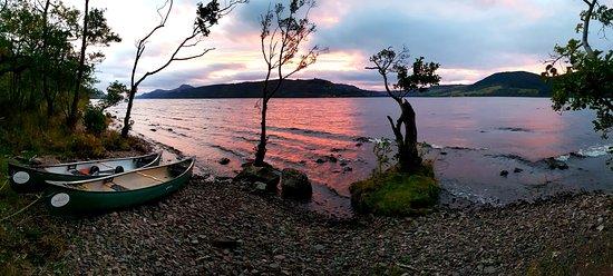 Kirkhill, UK: Wild camping on Loch Ness