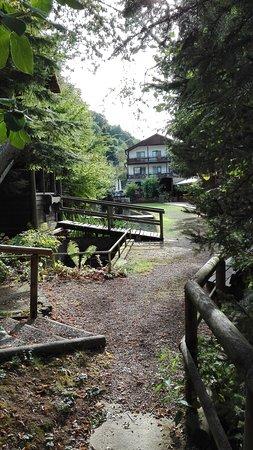 Biersdorf am See, Niemcy: Garden and hotel