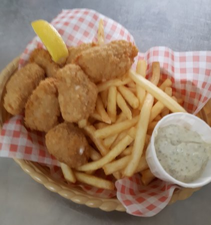 Bidford-on-Avon, UK: Scampi Basket