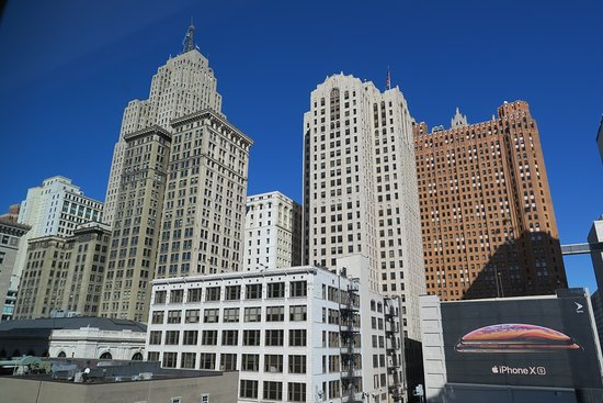 Detroit Foundation Hotel: View out our window