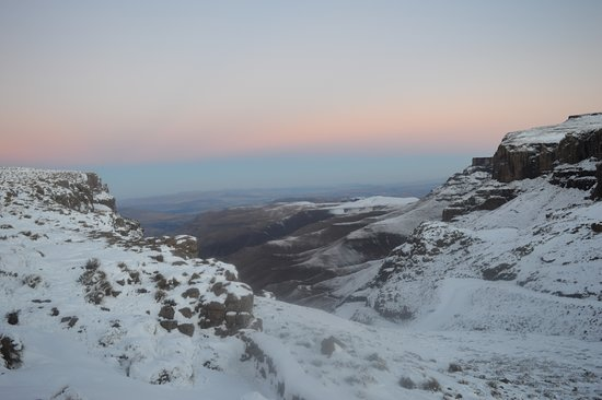 View from the pub on top of Sani Pass