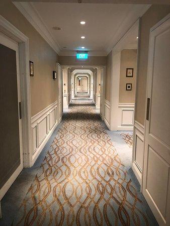Corridors of the hotel