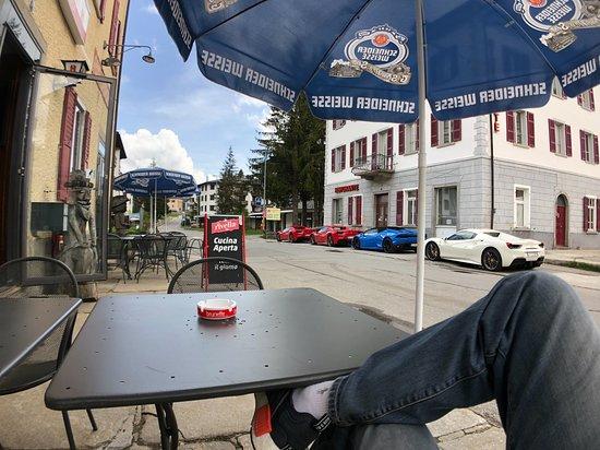 San Bernardino, Sveits: Chilling outside