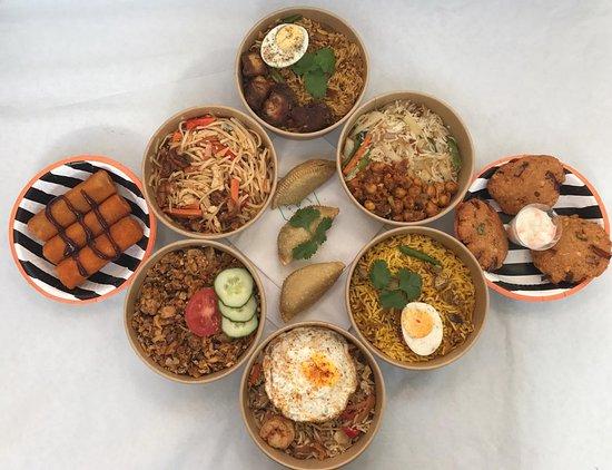 Delicious range of street food classics