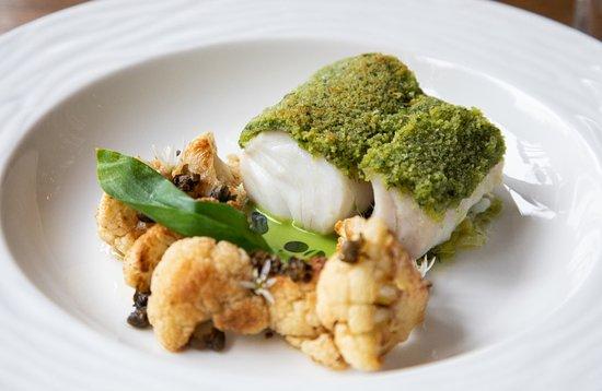 The Eastbury Hotel : Crusted cod