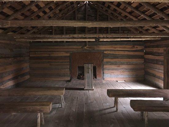 Interior of replica Shiloh Church