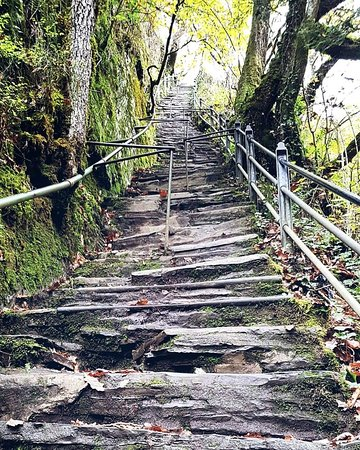 Jacobs ladder. 100 continous steep steps. Dont worry, you come down them not up them 😁