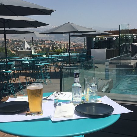 Amazing rooftop pool and bar