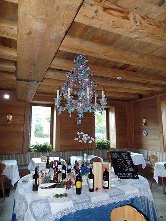 Hotel Stella delle Alpi: interessanter Kronleuchter