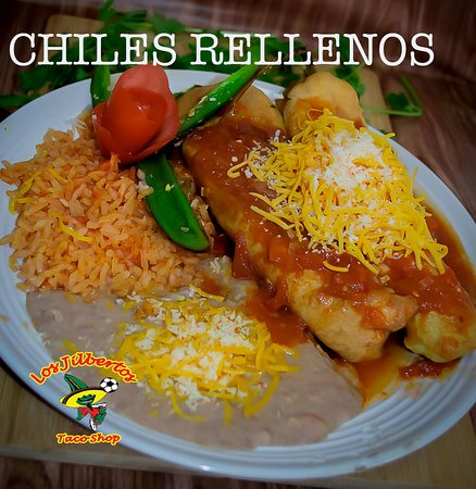 Enjoy this lovely Tuesday with our CHILES RELLENOS. Homemade with WHITE cheese inside and our sp