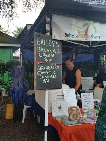 Ngatangiia, Cook Islands: Baileys banana & cream crepe - Yum.