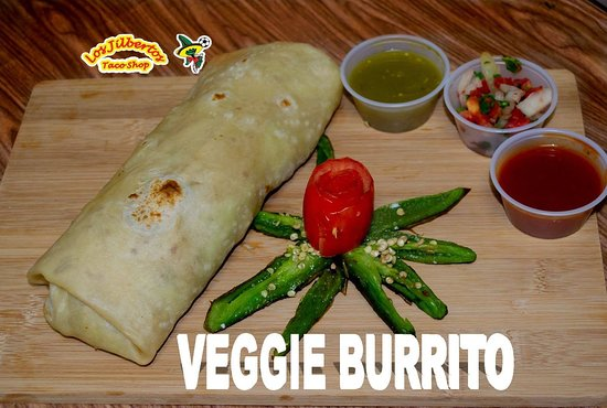 Looking for something light but filling at the same time we have our veggie burrito to fill you
