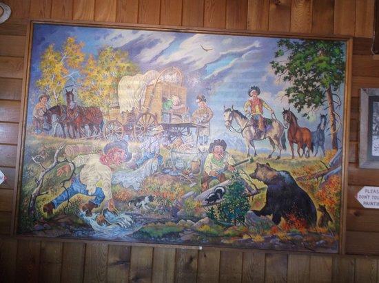 Turner Valley, Kanada: beautiful mural in dining room