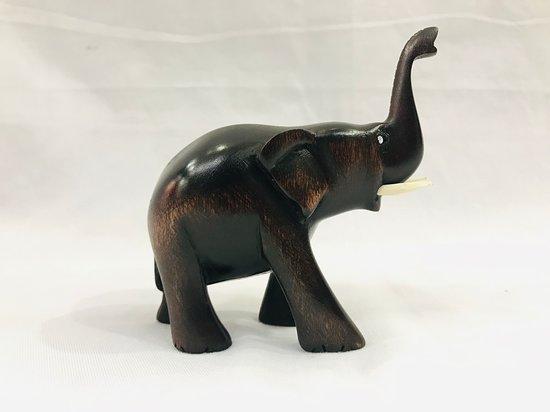 mid sized mahogany lephant
