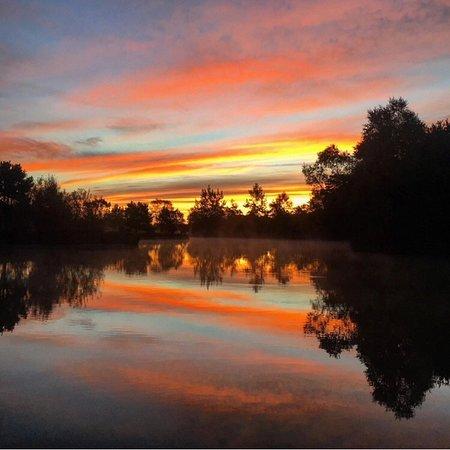 Dolton, UK: Sunset over Stafford Moor